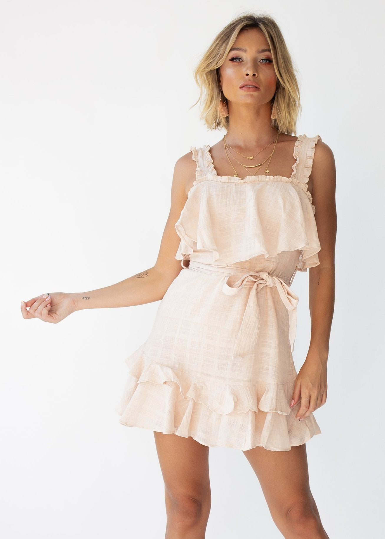 Happy Now Dress - Nude