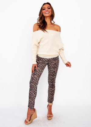 Genevieve Knit Top - Cream