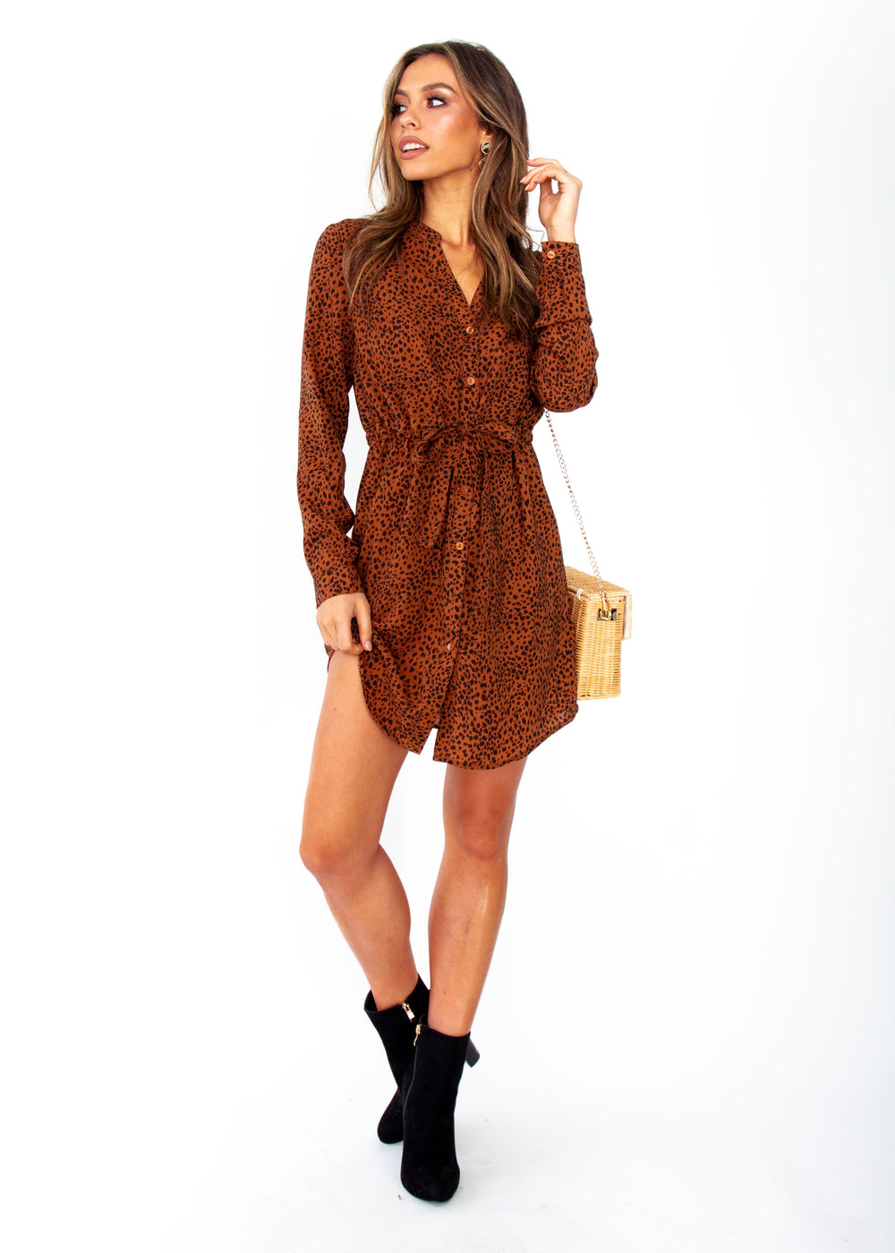Women's Winslow Tunic Dress - Rust Spot Print