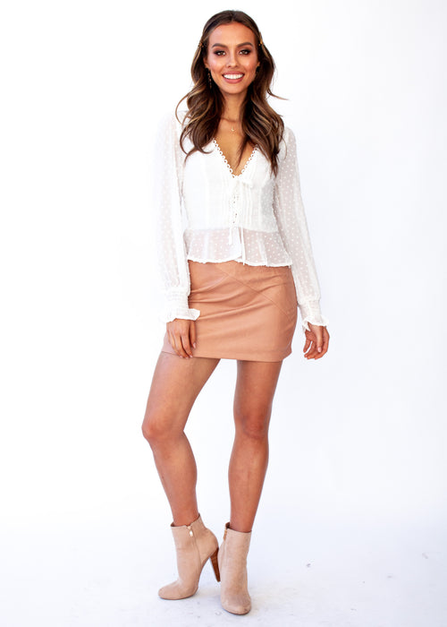 Fancy This Blouse - White