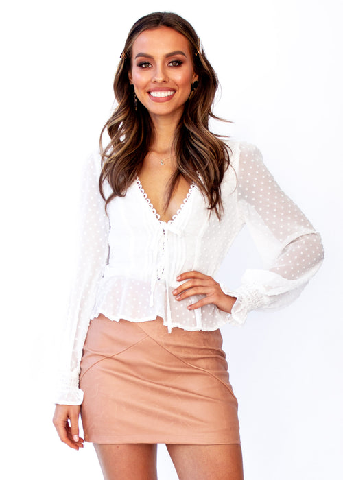 Women's Fancy This Blouse - White