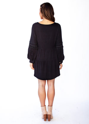 Fallon Hi-Lo Blouse - Black