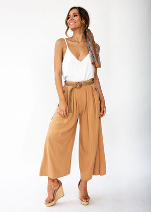 Women's Brooklyn Culottes - Camel