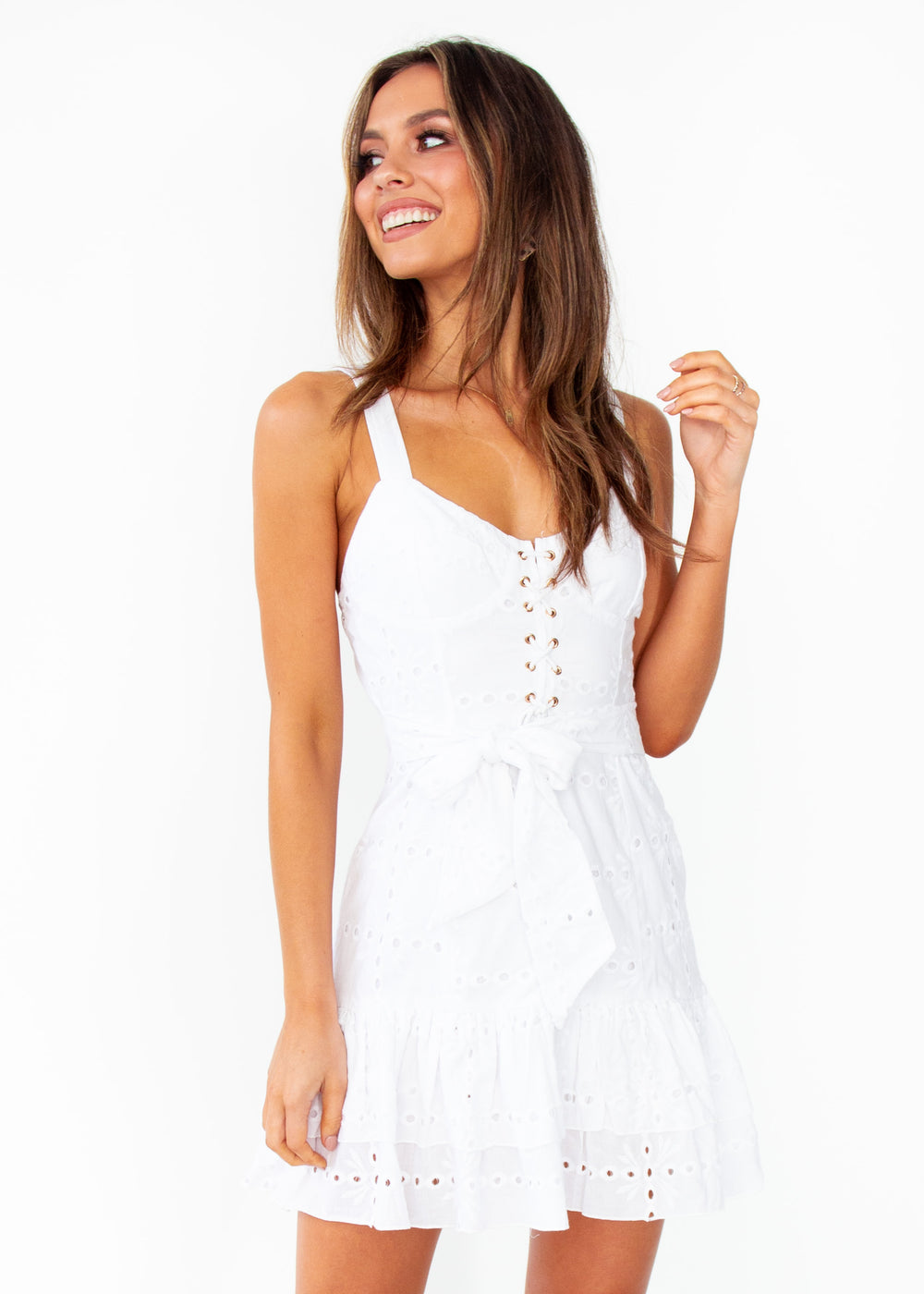 Women's Locales Anglaise Dress - White