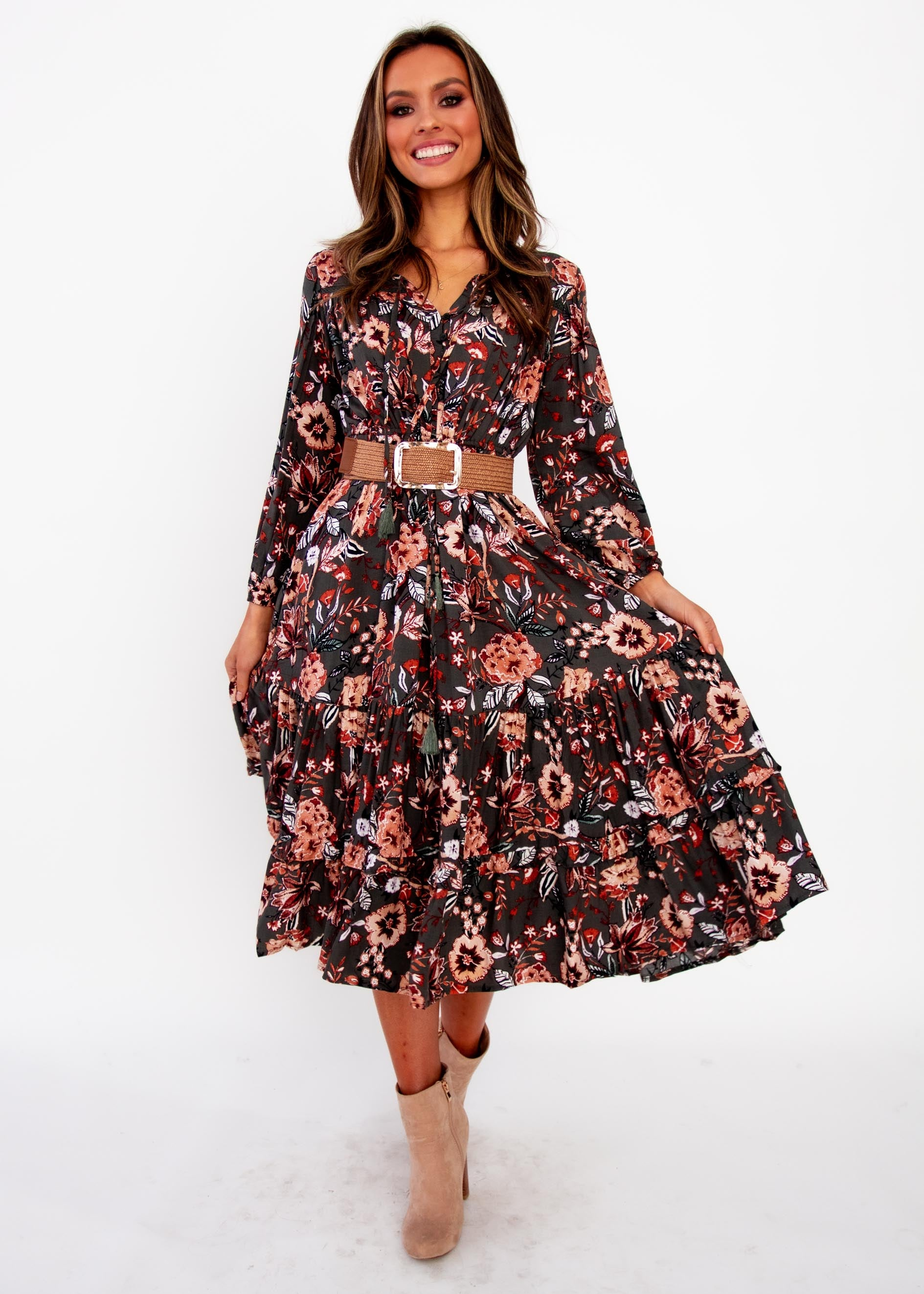 Women's Olly Midi Dress - Faye - Jaase