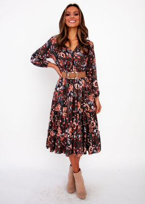 Olly Midi Dress - Faye - Jaase