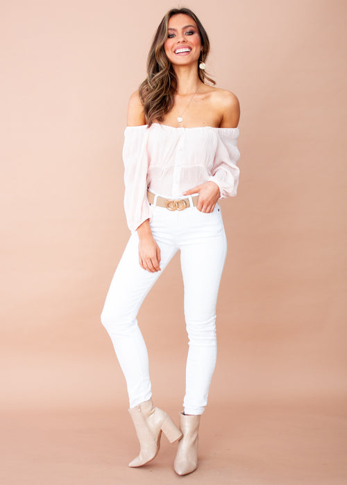 Aurora Cropped Blouse - Blush