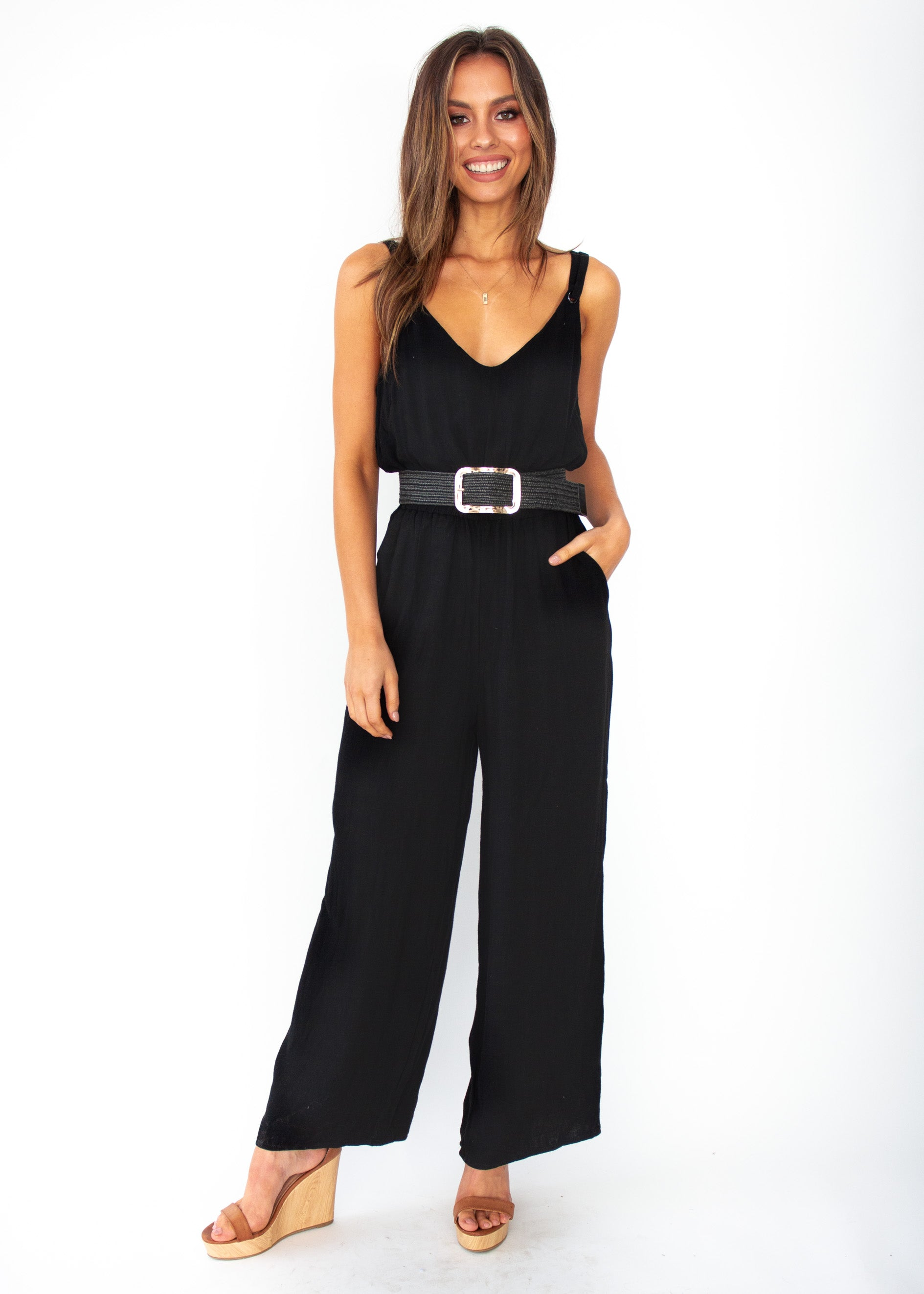 Women's Take Me Higher Pantsuit - Black