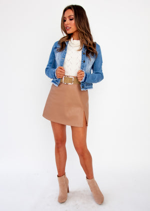 Harli Crop Denim Jacket - Light Denim - Jaase