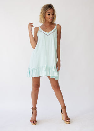Force Of Nature Swing Dress - Mint
