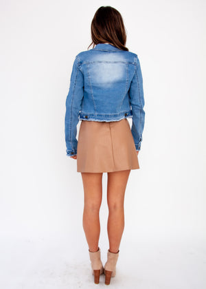 Harli Crop Denim Jacket - Light Denim