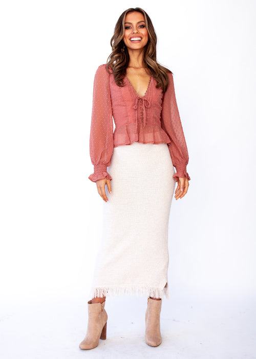 Women's Fancy This Blouse - Rose