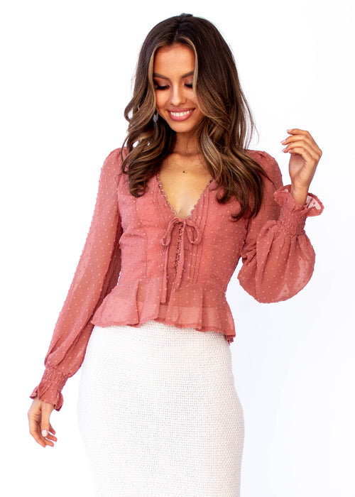 Fancy This Blouse - Rose