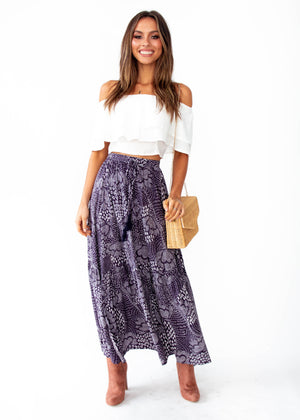 Sweet Love Maxi Skirt - Navy Twilight