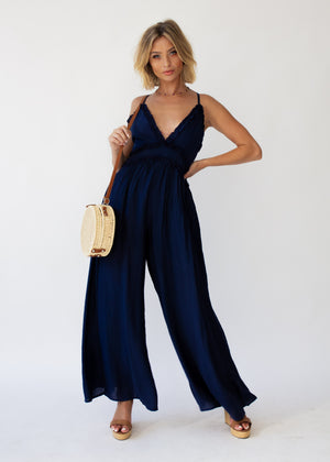 To The Point Pantsuit - Navy