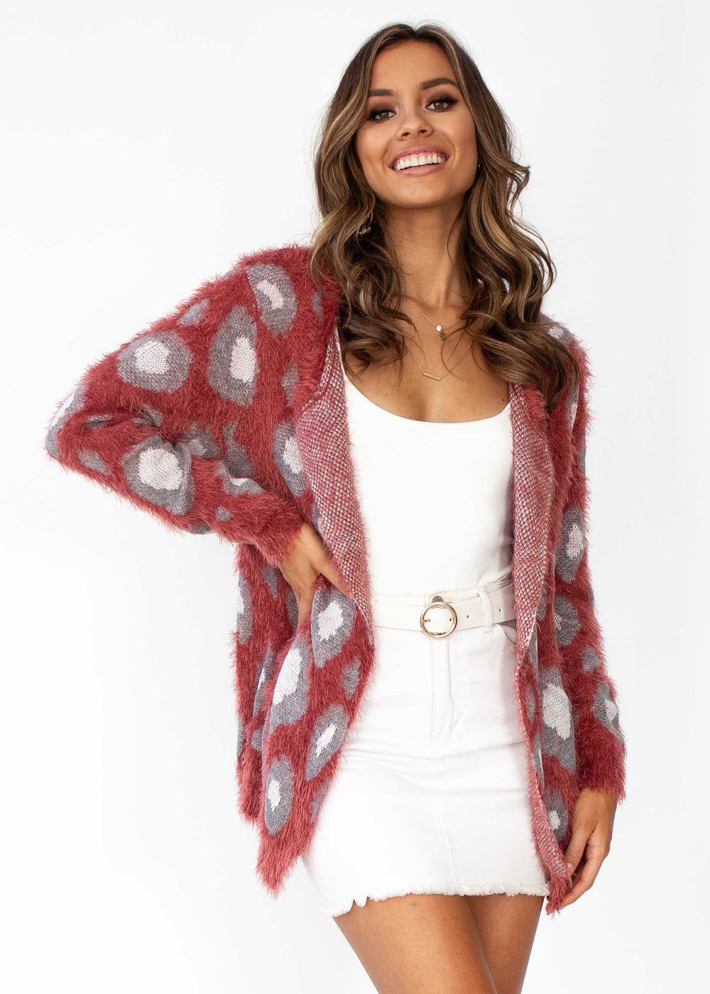 This Bliss Cardi - Rust Leopard