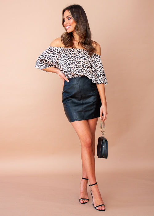 Heat Wave PU Skirt - Black