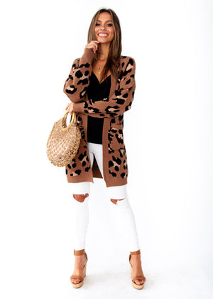 Better Than Ever Cardigan - Mocha Leopard