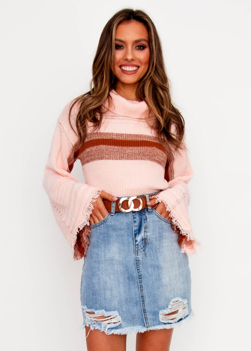 Women's Little Things Sweater - Blush Stripe