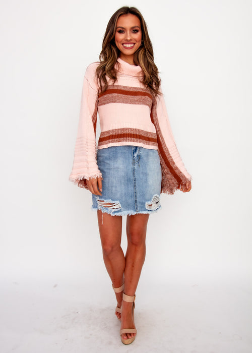 Little Things Sweater - Blush Stripe