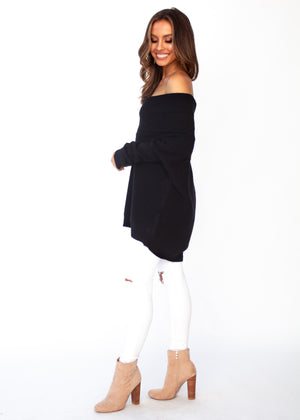 Dalton Roll Neck Sweater - Black