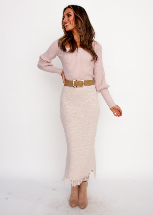 Viktoria Knit Top - Blush