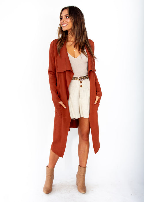 Women's Nights Like This Knit Jacket - Rust