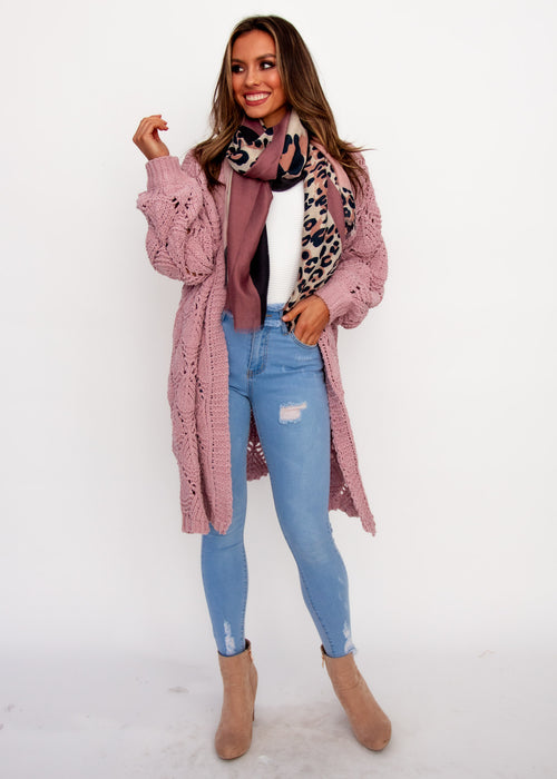 Malibu Sunset Cardigan - Blush