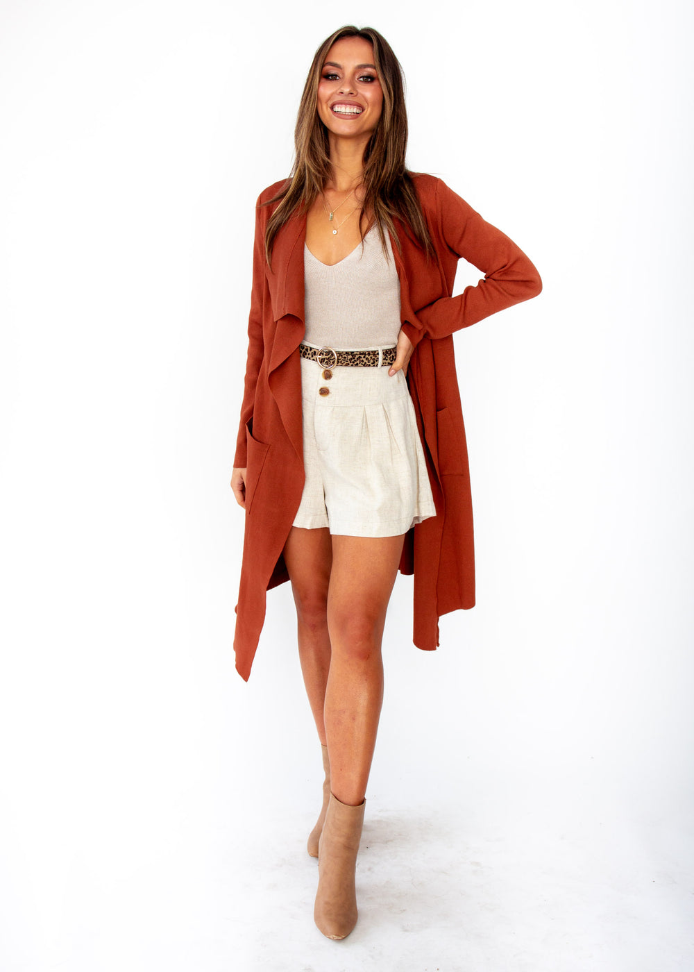 11c30097e2a Nights Like This Knit Jacket - Rust ...