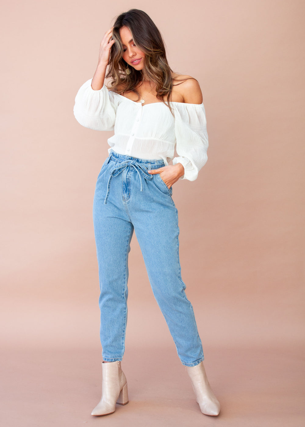 Heather Jeans - Faded Blue