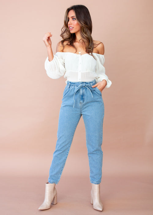 Women's Heather Jeans - Faded Blue