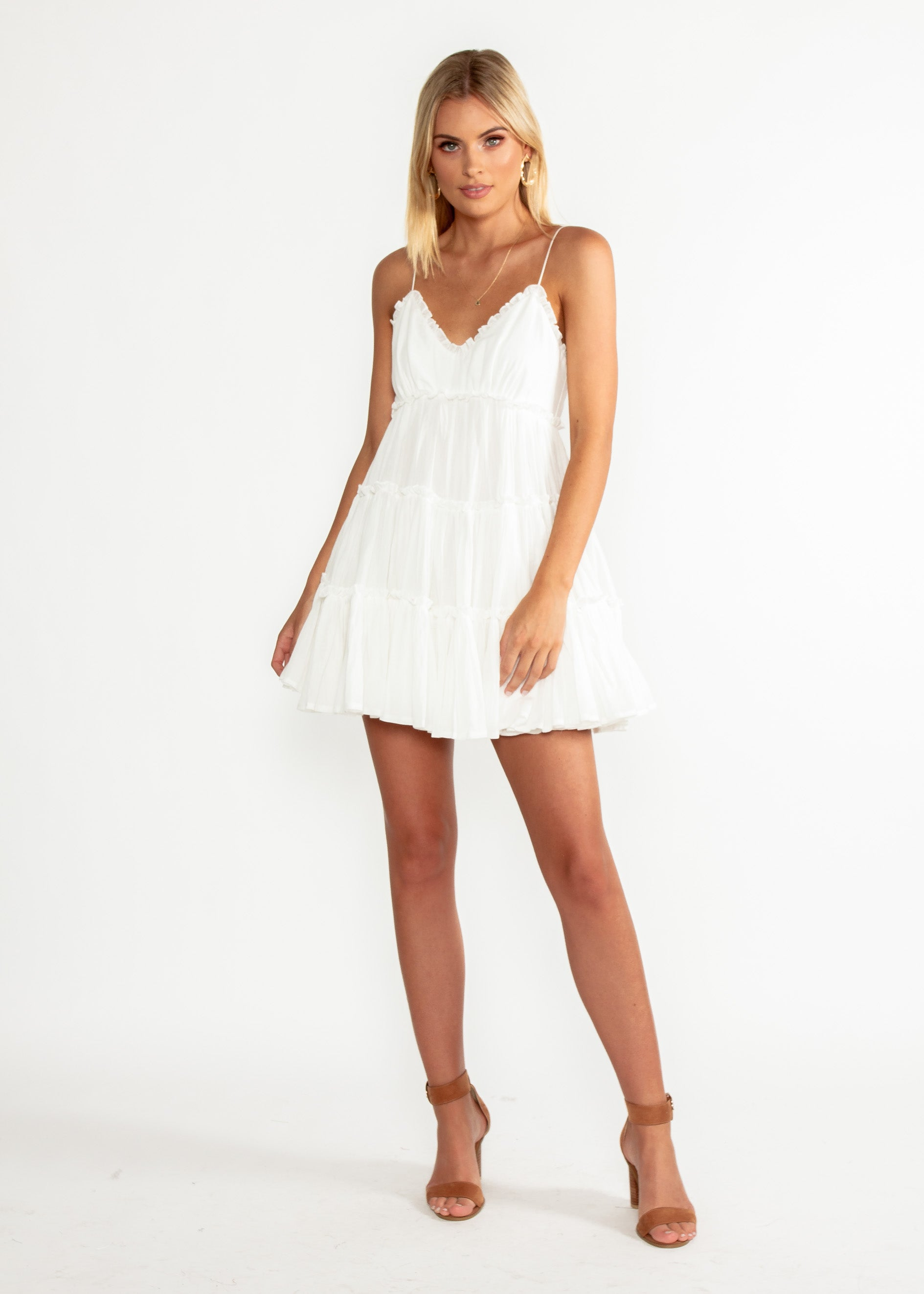 Pippa Swing Dress - White