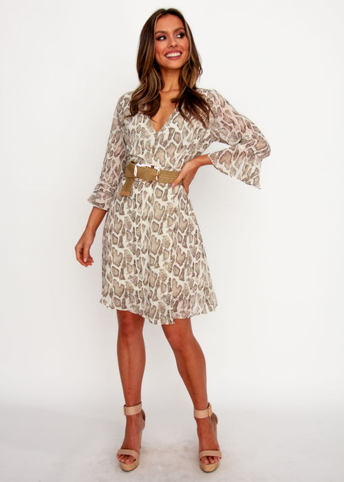 Sindy Wrap Dress - Snake