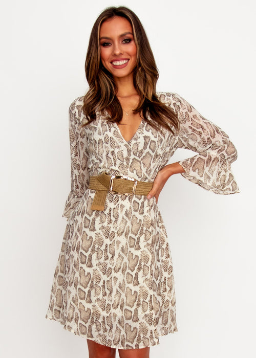 Women's Sindy Wrap Dress - Snake
