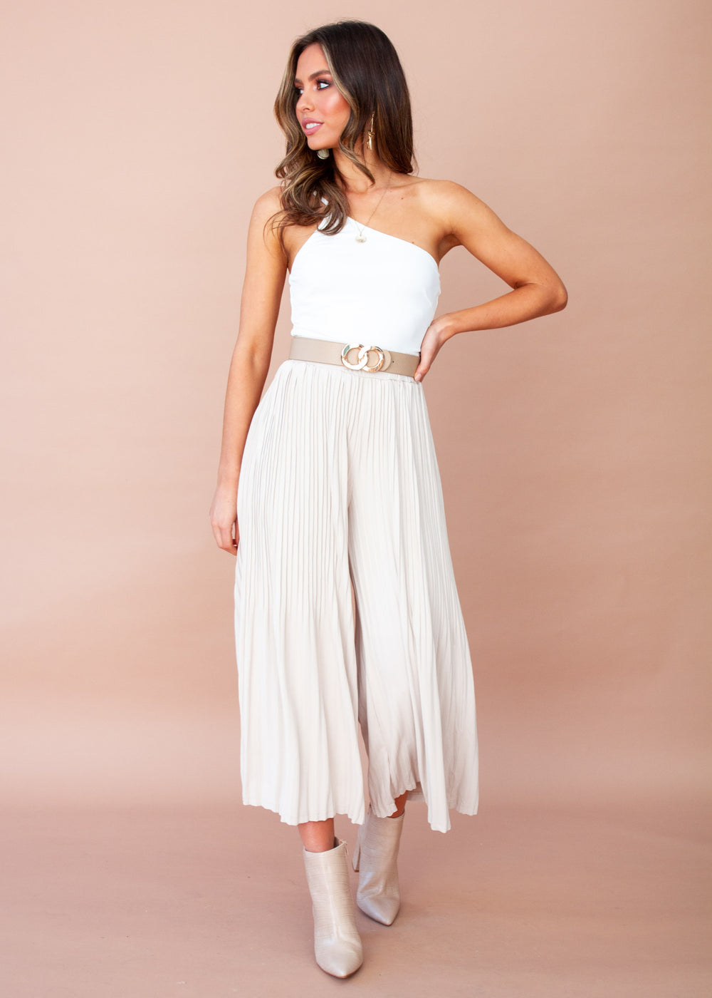 Roman Holiday Culottes - Beige