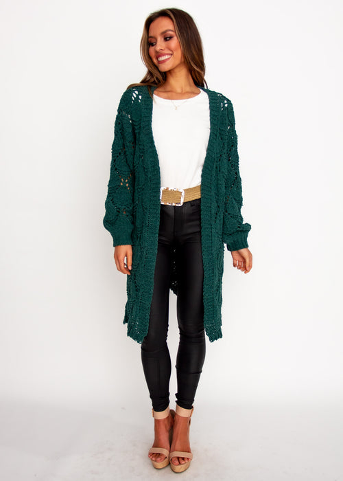 Malibu Sunset Cardigan - Emerald
