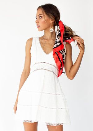 Gemini Dress - White