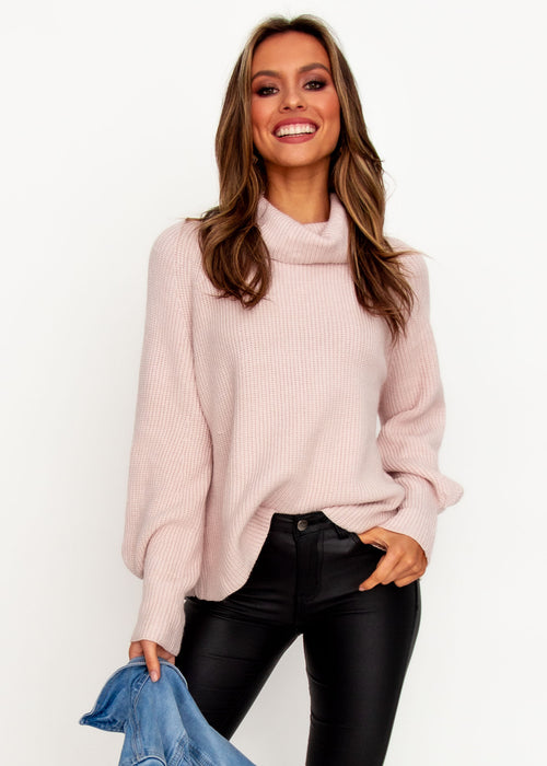 Women's Genesis Roll Neck Sweater - Blush