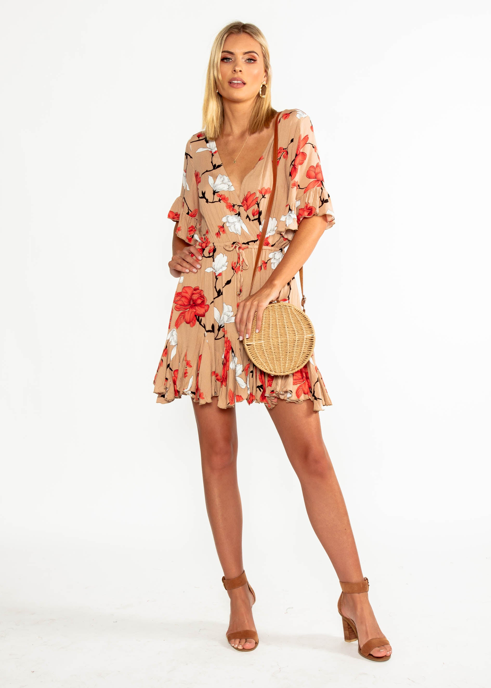 Introducing Me Dress - Mocha Floral