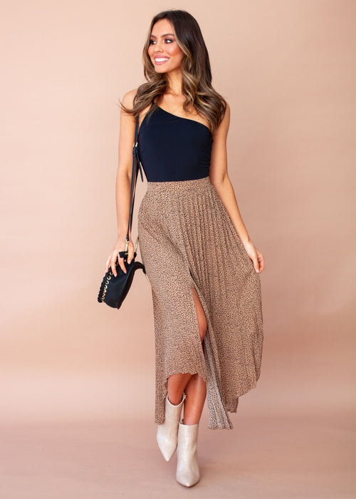 Women's One Step At A Time Maxi Skirt - Leopard