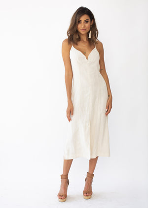 Lilia Midi Dress - Natural