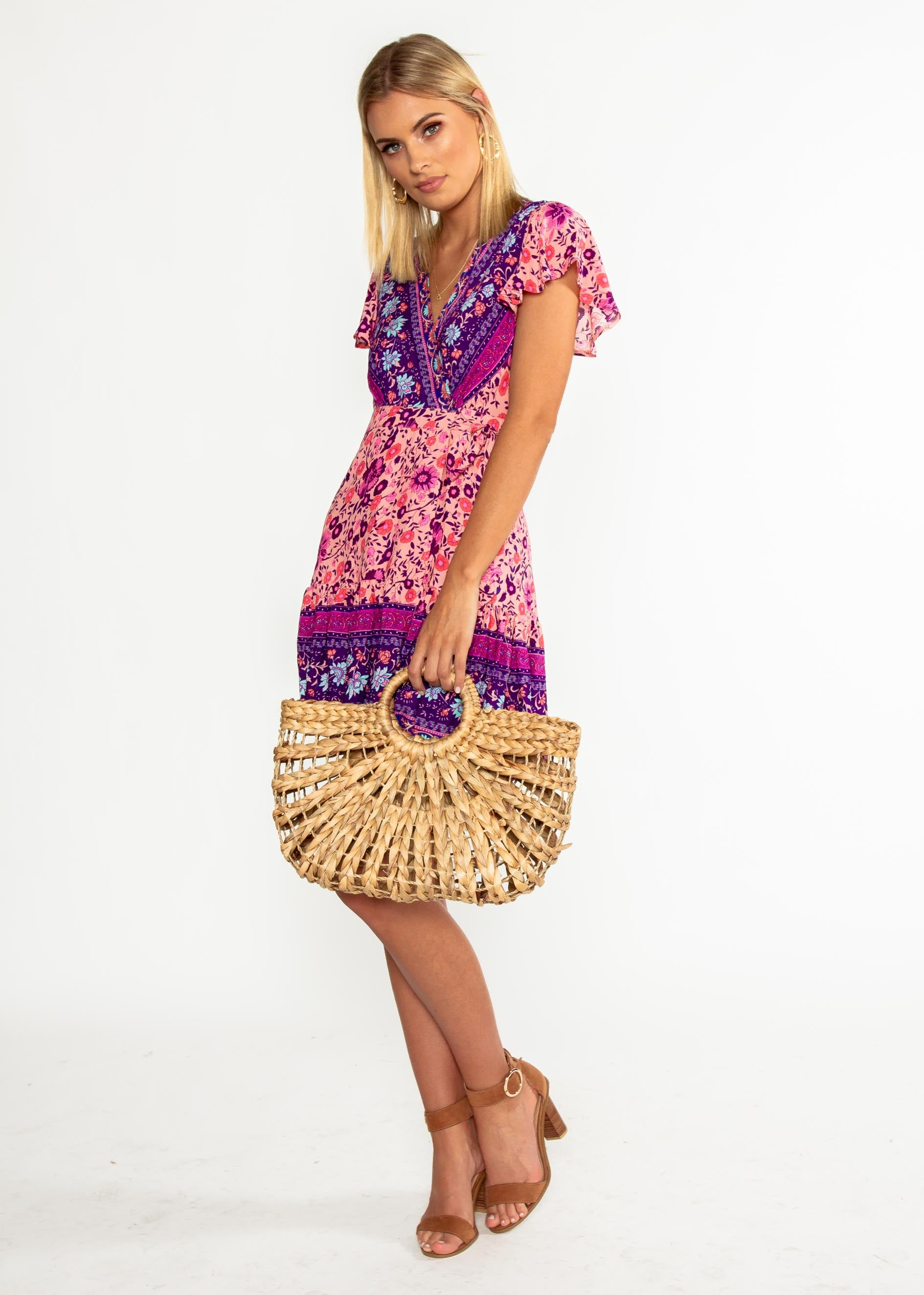 Le Sienna Wrap Dress - Wild Orchid