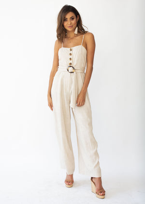 How About Now Pantsuit - Natural