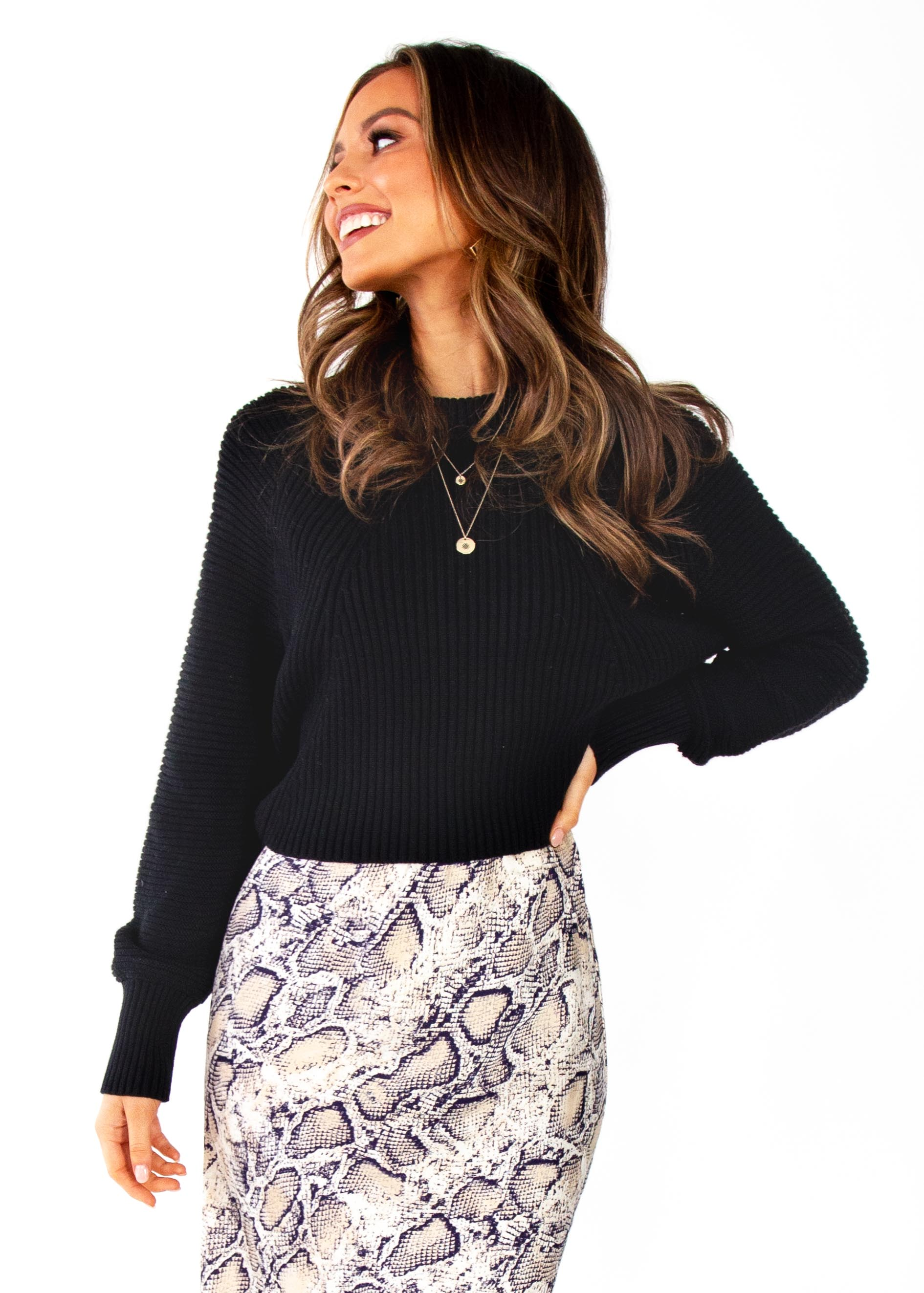 Women's Kelsea Cropped Sweater - Black