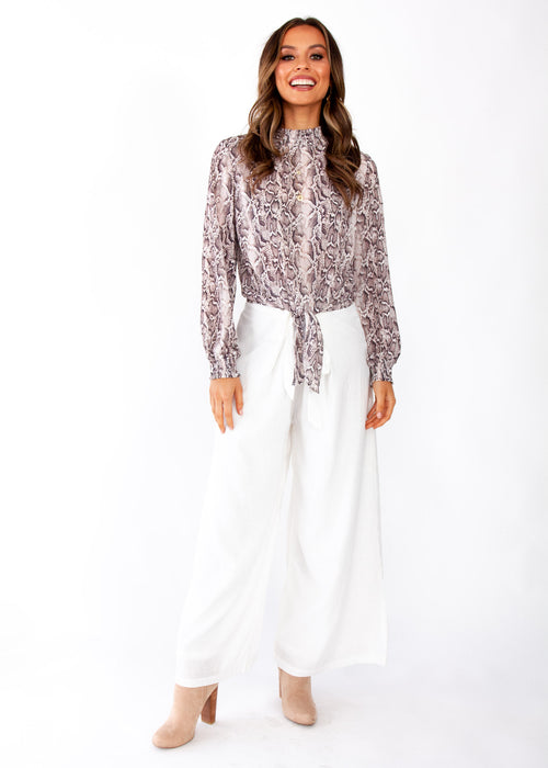 Outside Moment Blouse - Snake