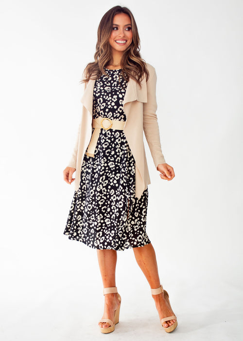 Remilia Midi Dress - Black Spot