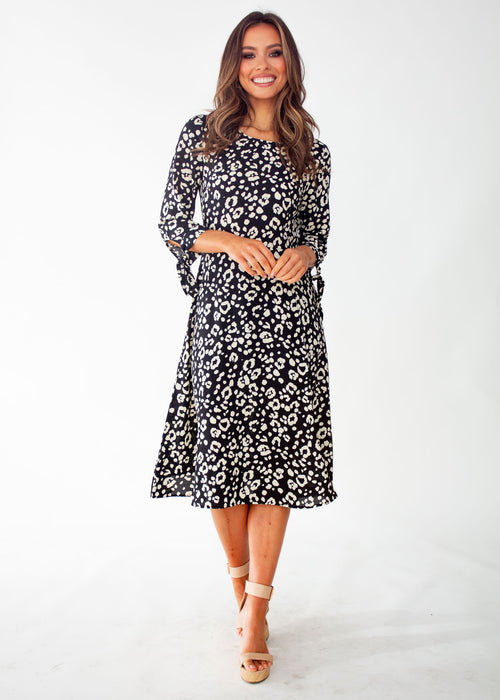 Women's Remilia Midi Dress - Black Spot