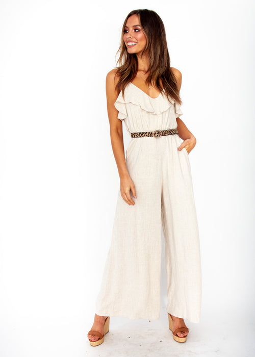 Women's Unforgettable Wide Leg Pantsuit - Natural