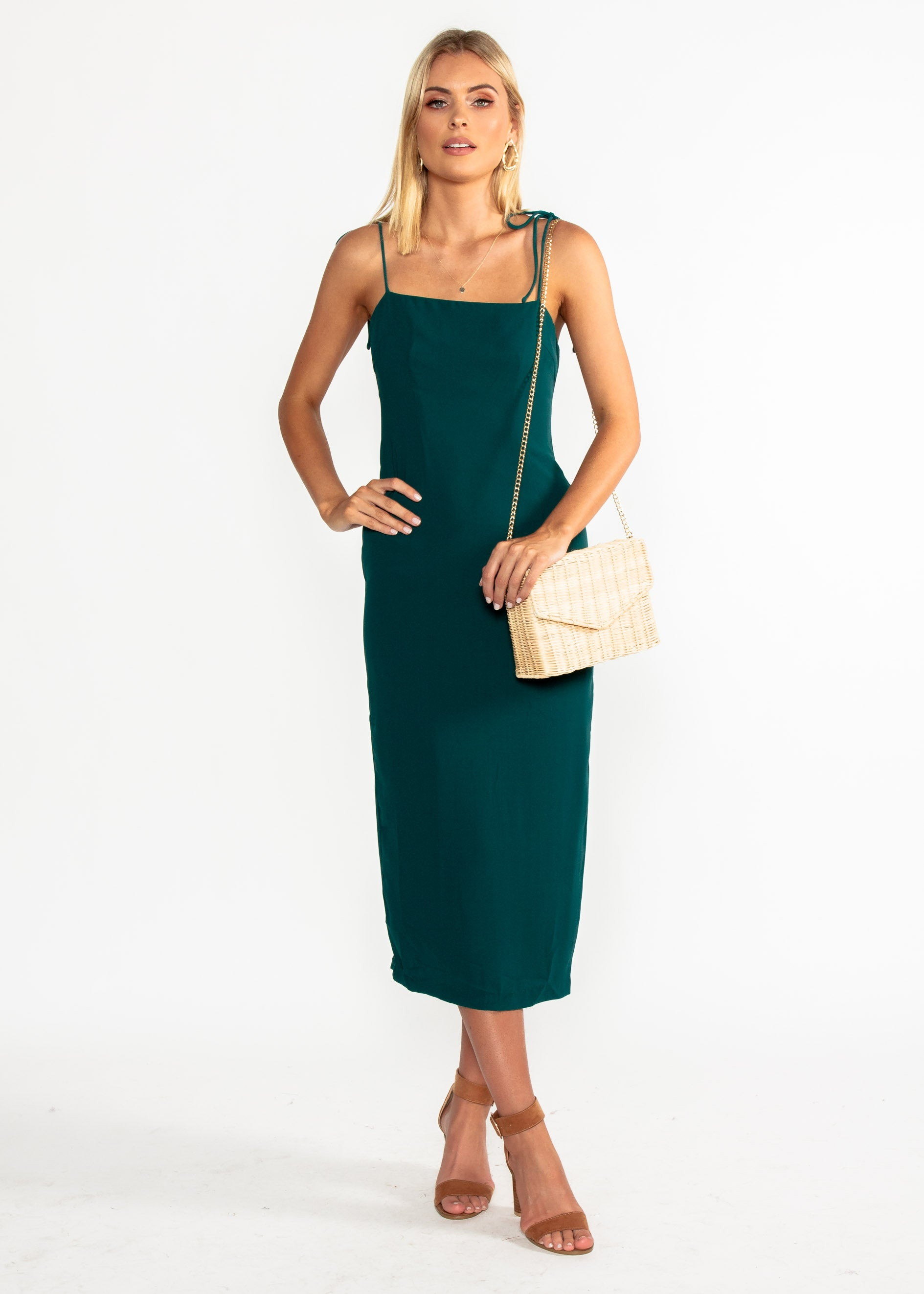 Best Mistake Midi Dress - Emerald