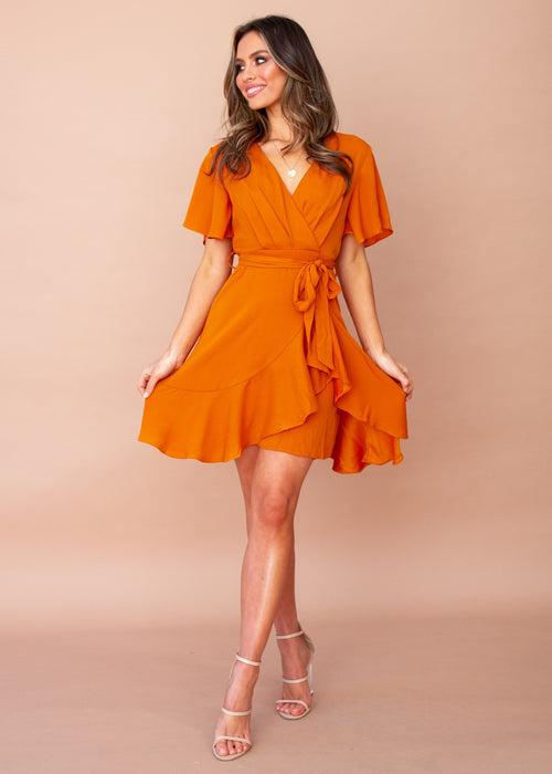 Women's Truth Or Dare Dress - Tangerine